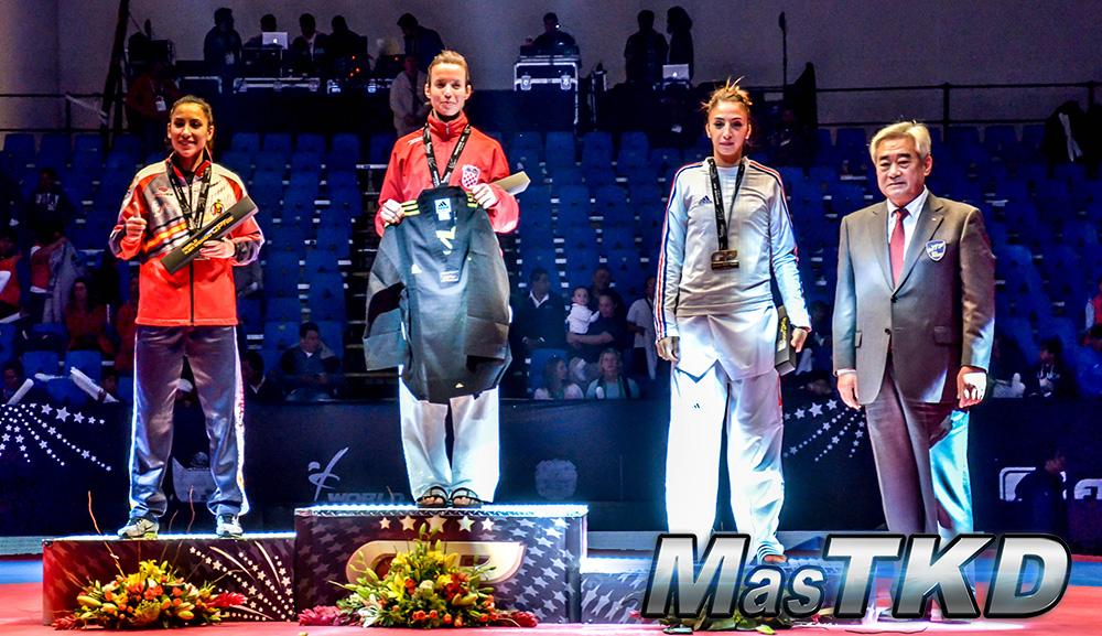 Podio F-49 Kg. - Grand Prix Final, Taekwondo, Querétaro 2014