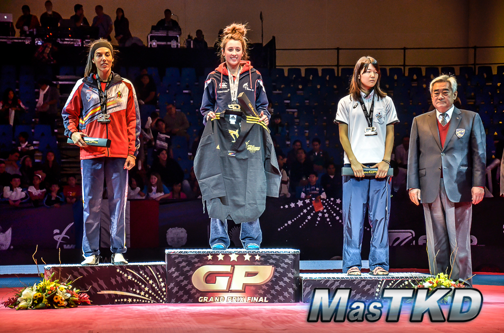 Podio F-57 Kg. - Grand Prix Final, Taekwondo, Querétaro 2014