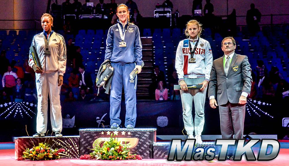 Podio F-67 Kg. - Grand Prix Final, Taekwondo, Querétaro 2014