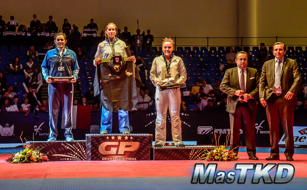 Podio F+67 Kg. - Grand Prix Final, Taekwondo, Querétaro 2014