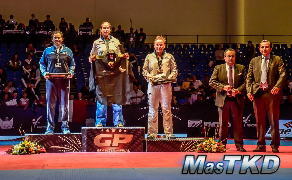 Podio F+67 Kg. - Grand Prix Final, Taekwondo, Querétaro 2014