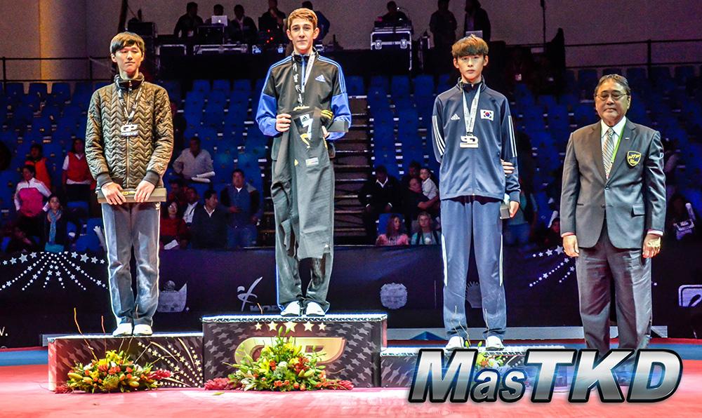 Podio M-58 Kg. - Grand Prix Final, Taekwondo, Querétaro 2014