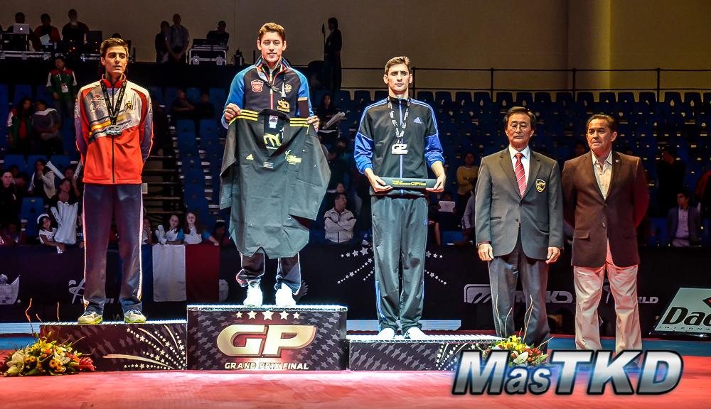 Podio M-68 Kg. - Grand Prix Final, Taekwondo, Querétaro 2014