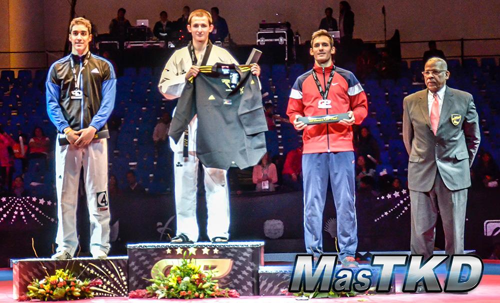 Podio M-80 Kg. - Grand Prix Final, Taekwondo, Querétaro 2014