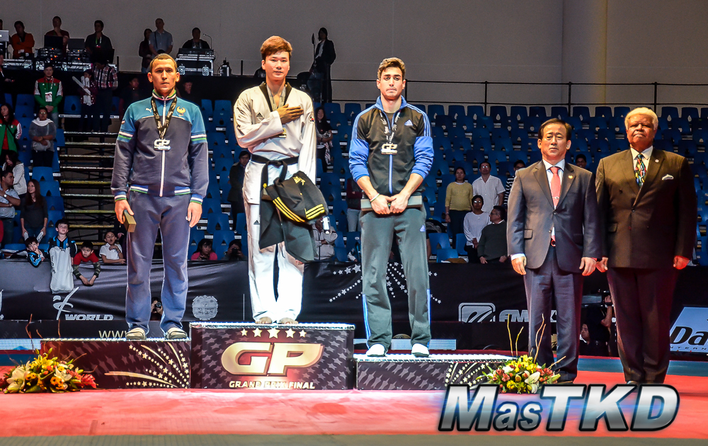 Podio M+80 Kg. - Grand Prix Final, Taekwondo, Querétaro 2014