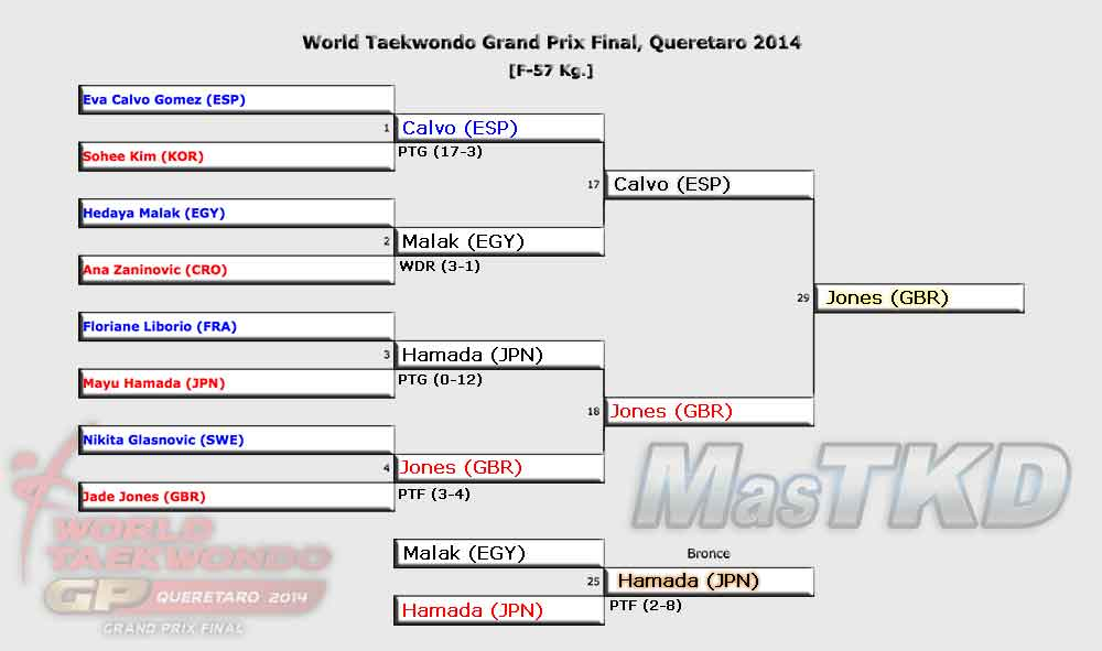Grafica con los Resultados del GP Final 2014