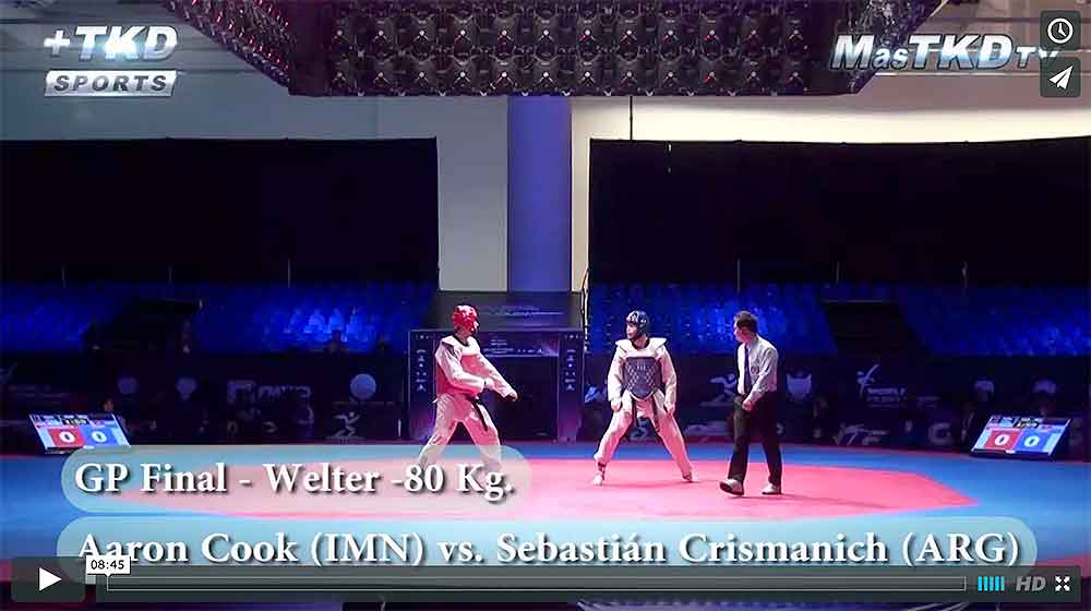 Combate entre Aaron Cook y Sebastian Crismanich