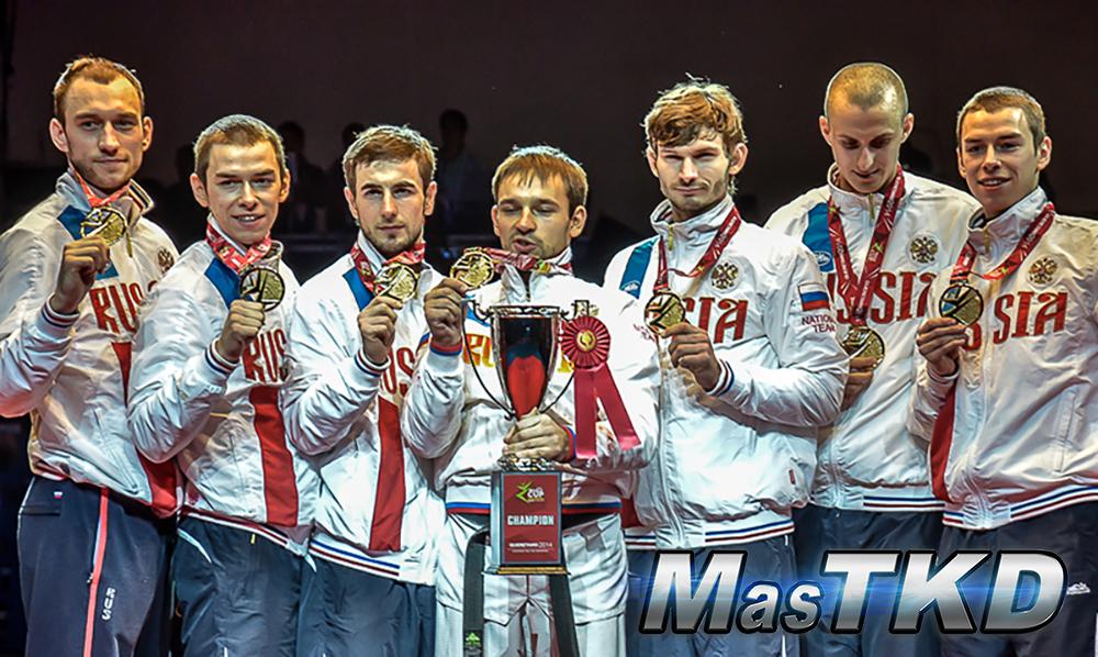 Rusia Campeon de la Copa Mundial por Equipos de Taekwondo 2014