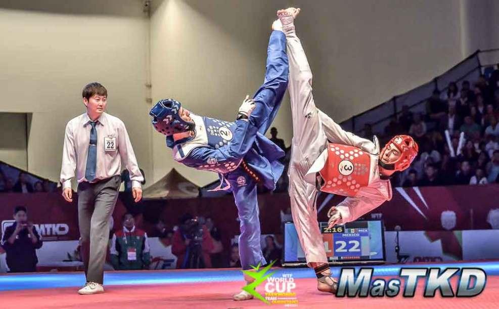 Imagenes de la semifinales y finales de la Copa del Mundo Por Equipos de Taekwondo 2014