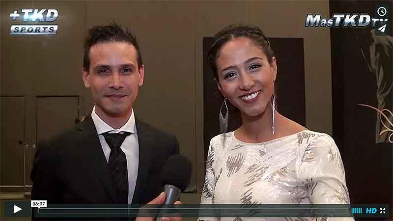 Entrevistas a celebridades de Taekwondo en la Alfombra Roja