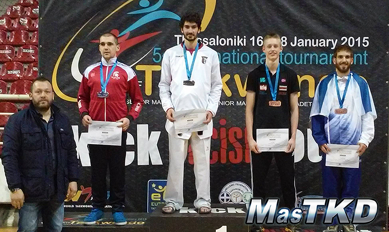 Podio del 2nd Greek Open 2015