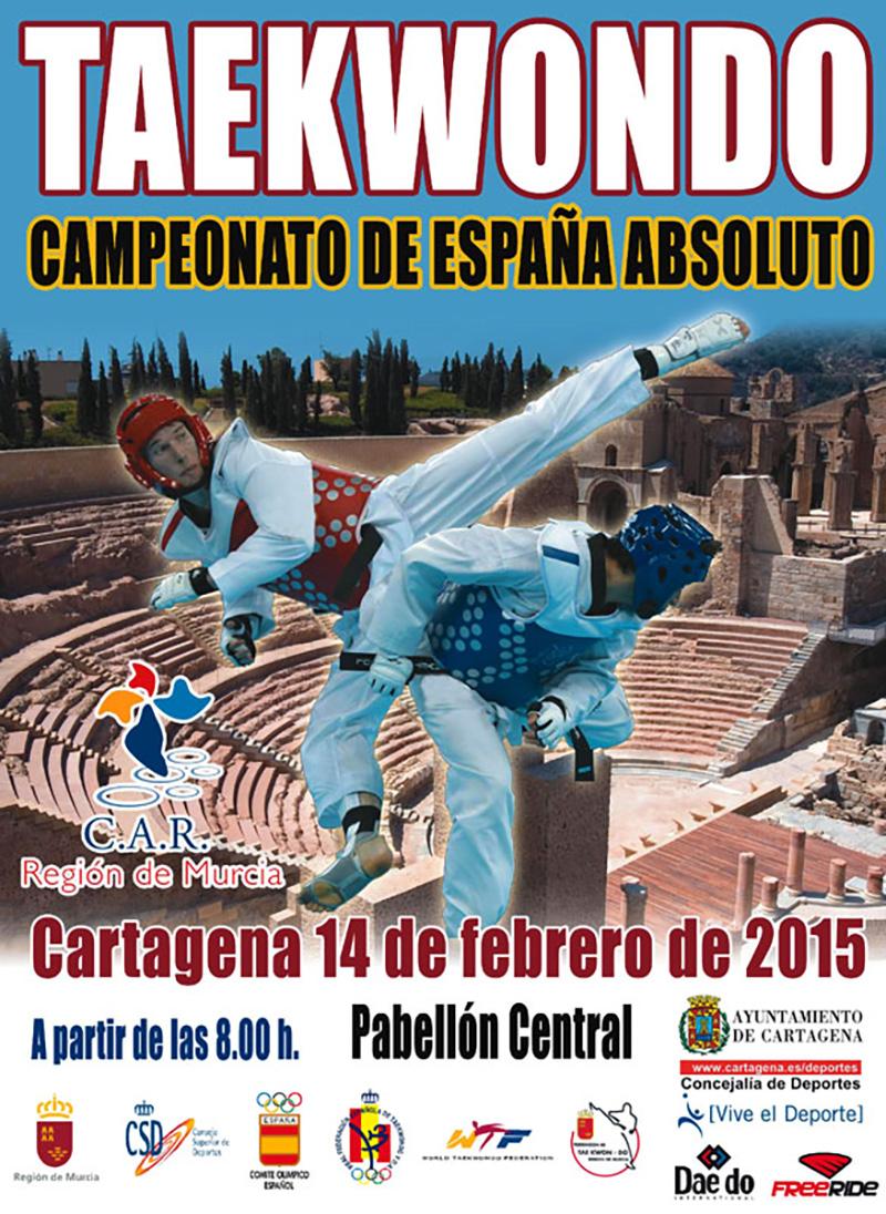 Cartel, Campeonato de España Absoluto de Taekwondo