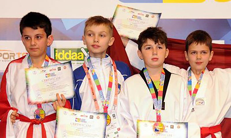 Podio del 1st European Kids Taekwondo Championships 2015