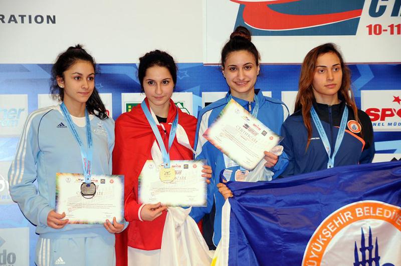 Podio F-46 del 3rd European Taekwondo Club Championships