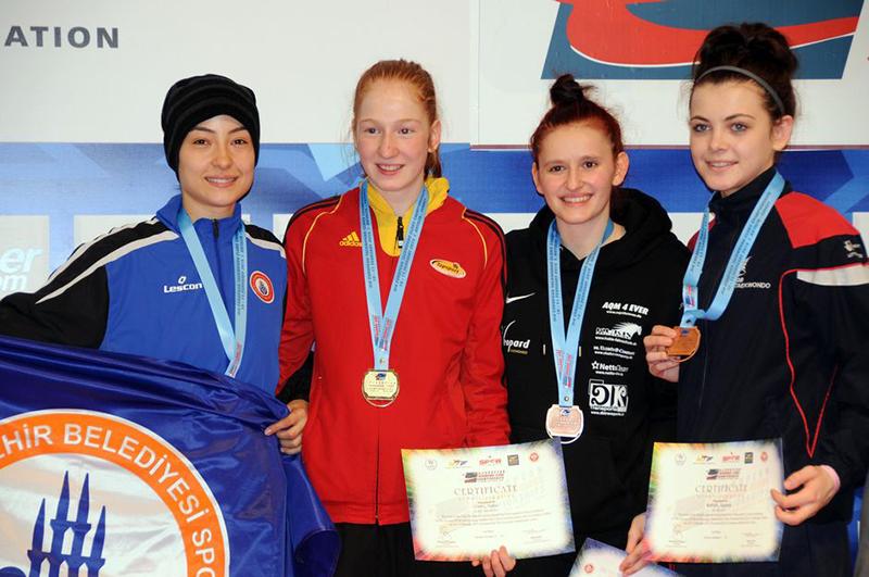 Podio F-53 del 3rd European Taekwondo Club Championships