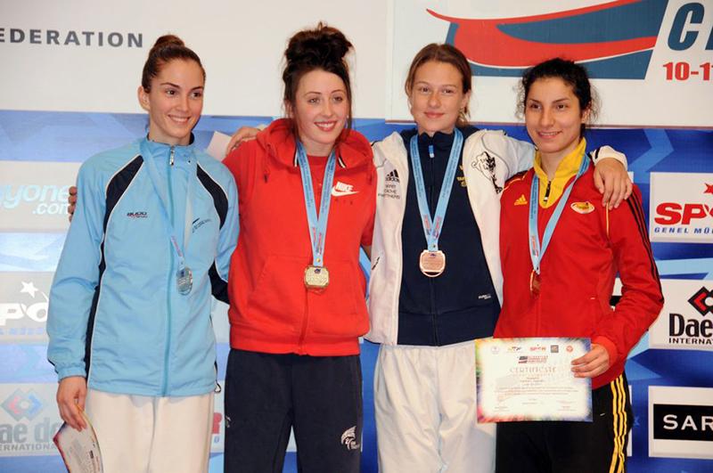 Podio F-57 del 3rd European Taekwondo Club Championships