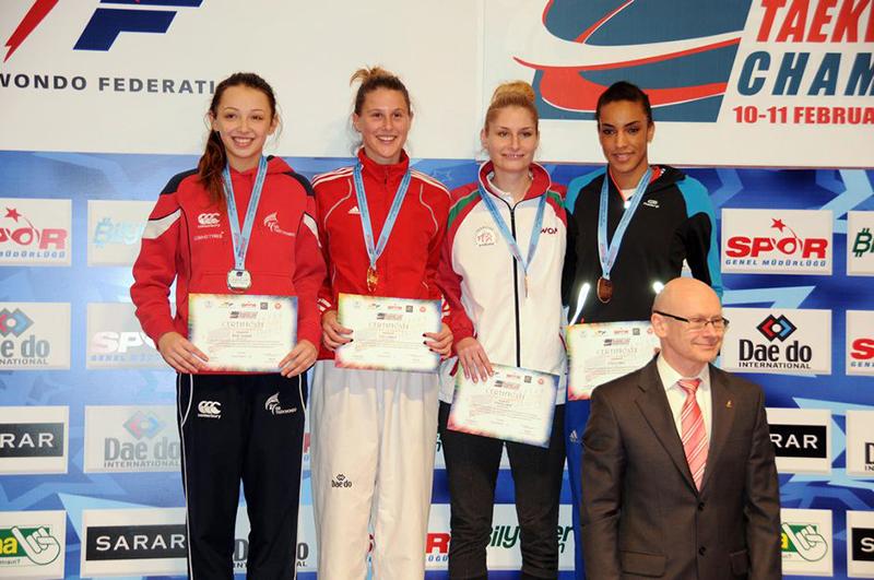 Podio F-62 del 3rd European Taekwondo Club Championships