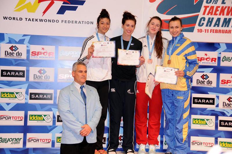 Podio F+73 del 3rd European Taekwondo Club Championships