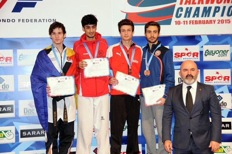 Podio M-54 del 3rd European Taekwondo Club Championships