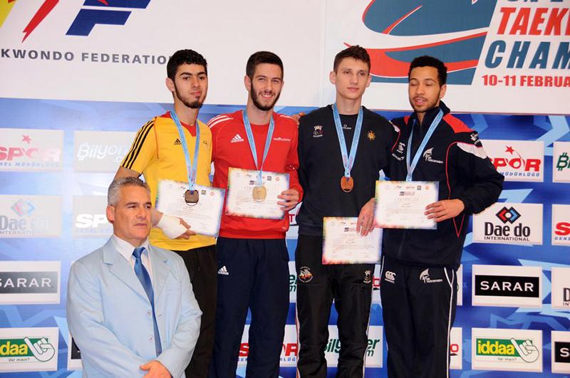 Podio M-63 del 3rd European Taekwondo Club Championships