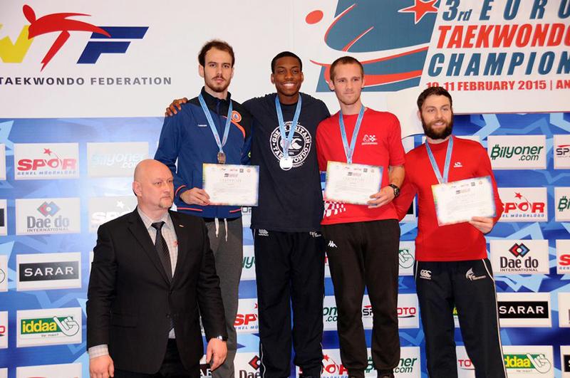 Podio M-80 del 3rd European Taekwondo Club Championships
