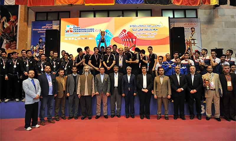 Podio del 5th Asian Taekwondo Clubs Championships