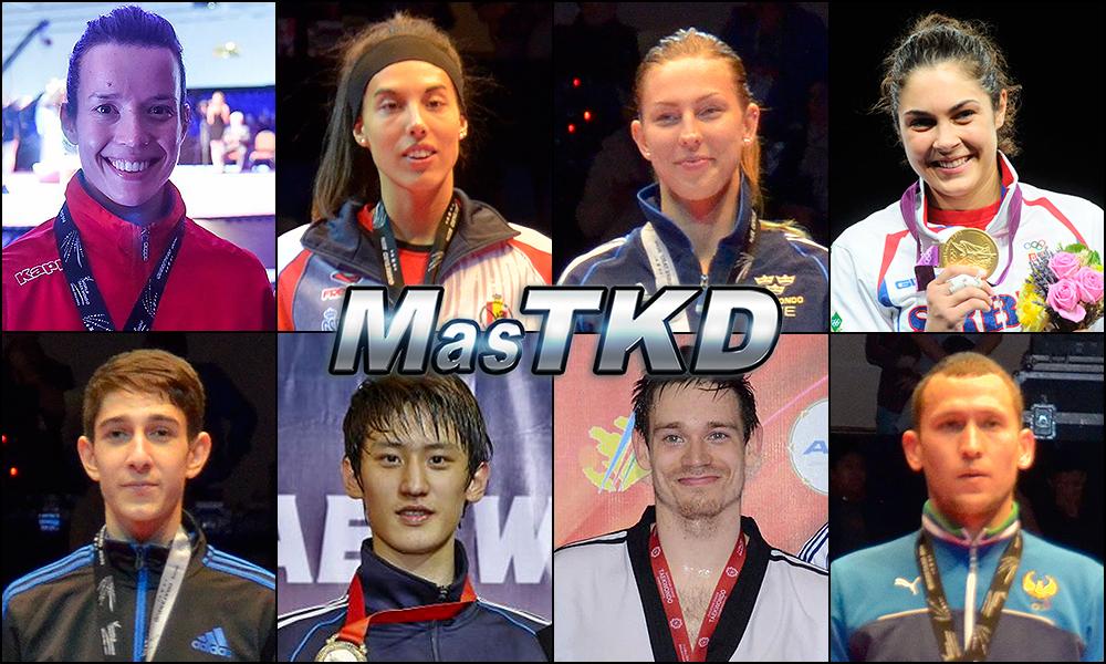Números 1 – WTF World Olympic Ranking – Taekwondo WTF – Marzo 2015.
