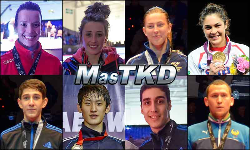 Números 1 – WTF World Olympic Ranking – Taekwondo WTF – Abril 2015.