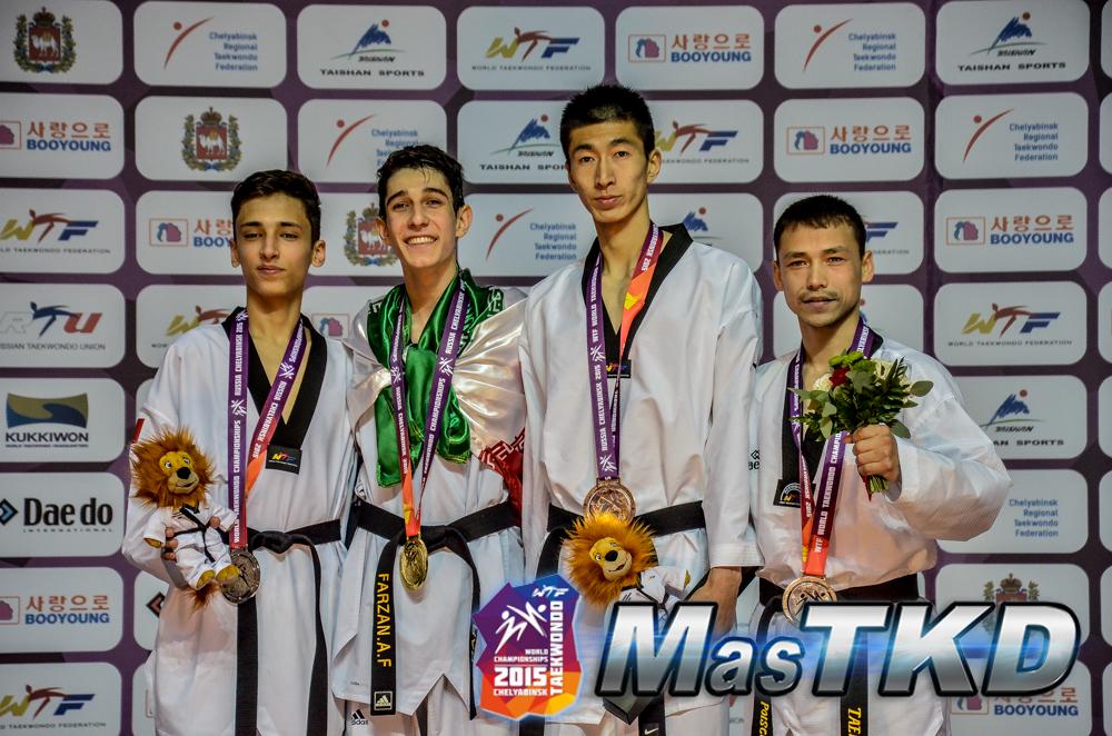 Podio Mundial Taekwondo M-74 Kg.