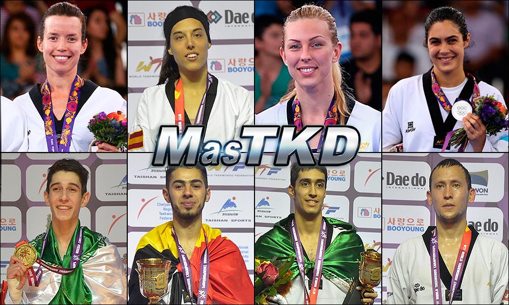 Números 1 – WTF World Olympic Ranking – Taekwondo WTF – Julio 2015.