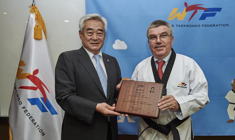 WTF-President-Choue_and_IOC-President-Thomas-Bach