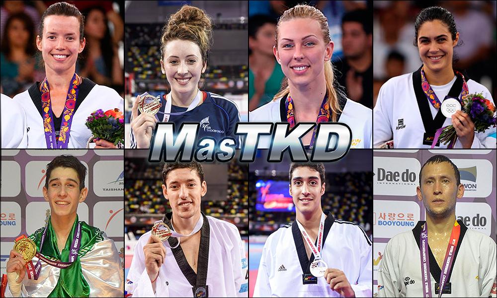 Números 1 – WTF World Olympic Ranking – Taekwondo WTF – Octubre 2015.