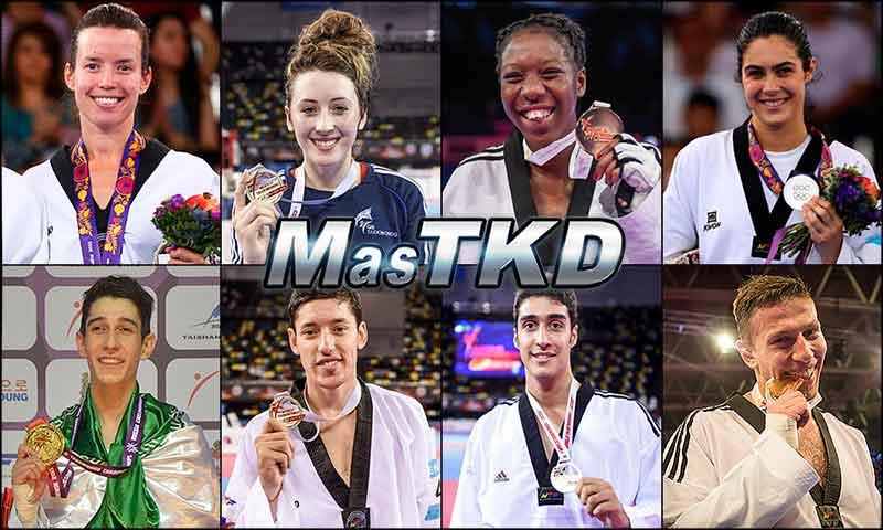 Números 1 – WTF World Olympic Ranking – Taekwondo WTF – Noviembre2015.