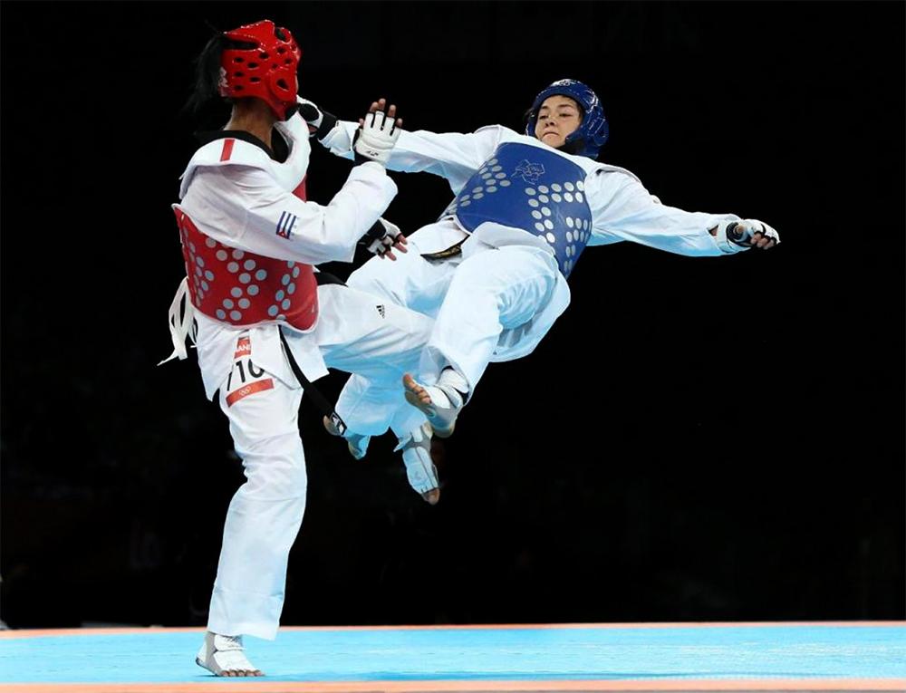 Figura 1. Intercambio de técnicas de golpe en escenario Olímpico.