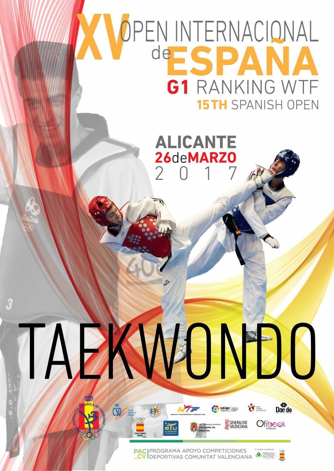 Poster Open de España de Taekwondo 2017 G1