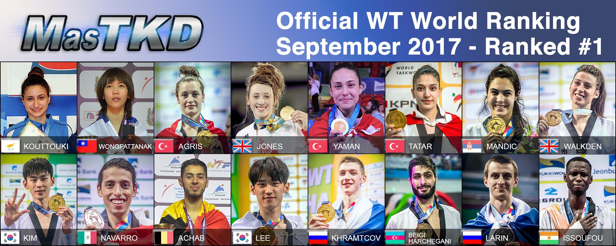 Los números 1 del WT Word Ranking – SEPTIEMBRE 2017.