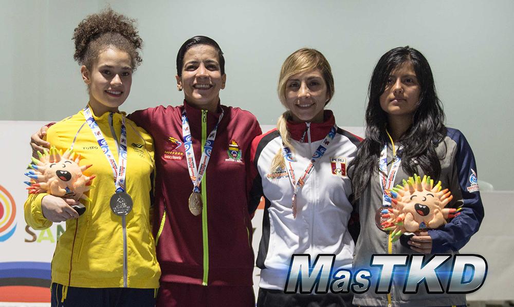 Podio_F-46_XVIII Juegos Bolivarianos Santa Marta 2017 - Taekwondo