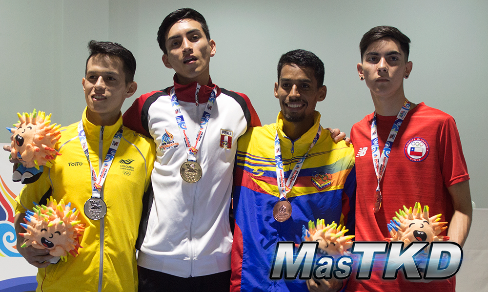 Podio_M-54_XVIII Juegos Bolivarianos Santa Marta 2017 - Taekwondo