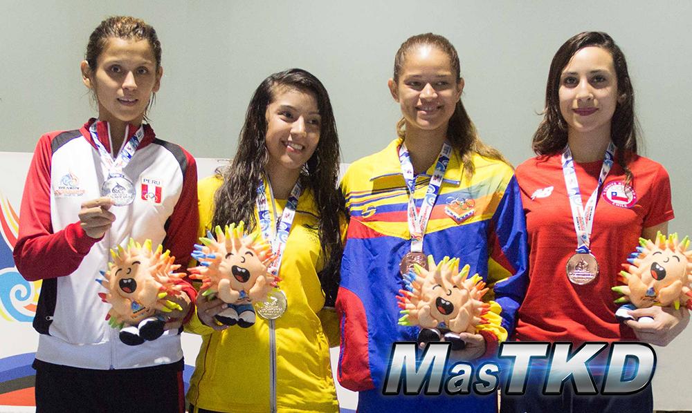 Podio_F-49_XVIII Juegos Bolivarianos Santa Marta 2017 - Taekwondo