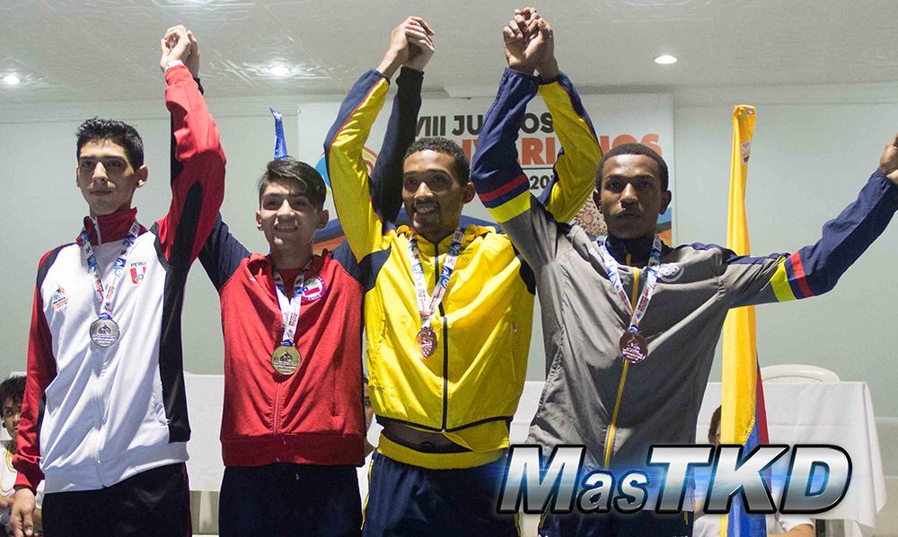 Podio_M-63_XVIII Juegos Bolivarianos Santa Marta 2017 - Taekwondo