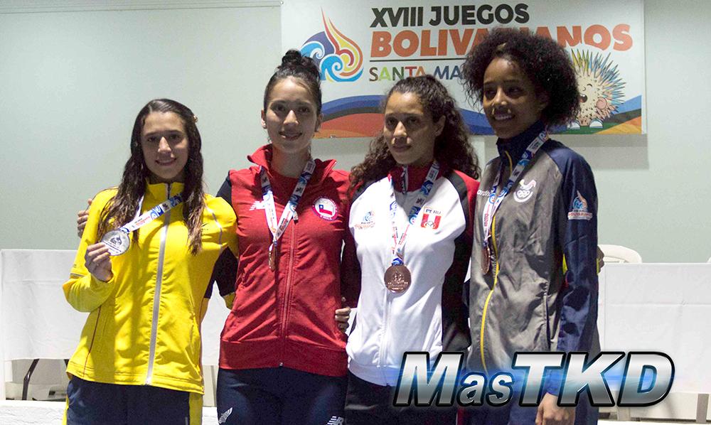 Podio_F-53_XVIII Juegos Bolivarianos Santa Marta 2017 - Taekwondo