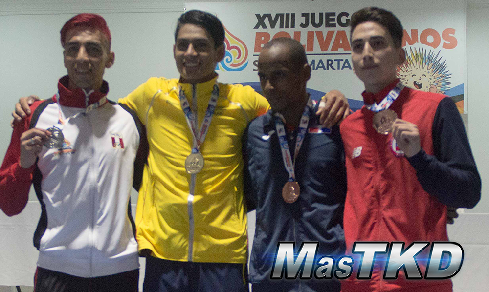 Podio_M-68_XVIII Juegos Bolivarianos Santa Marta 2017 - Taekwondo