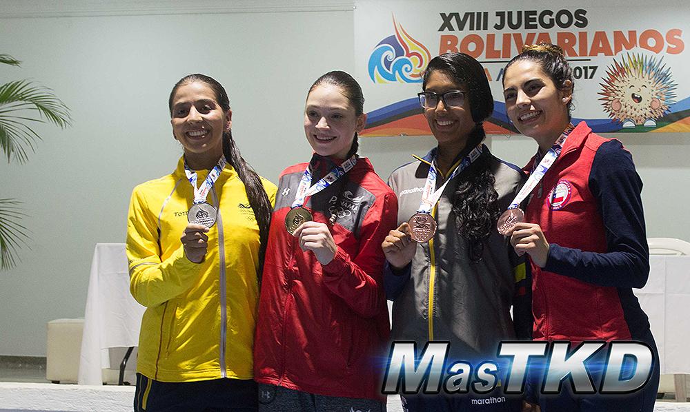 Podio_F-57_XVIII Juegos Bolivarianos Santa Marta 2017 - Taekwondo