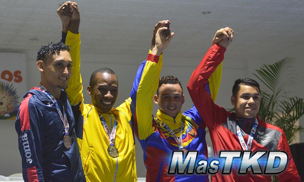 Podio_M-74_XVIII Juegos Bolivarianos Santa Marta 2017 - Taekwondo