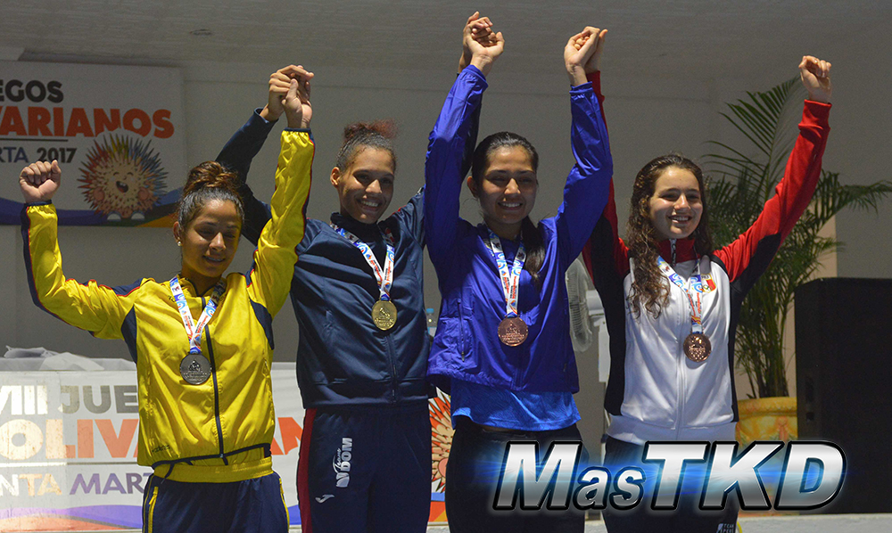 Podio_F-62_XVIII Juegos Bolivarianos Santa Marta 2017 - Taekwondo