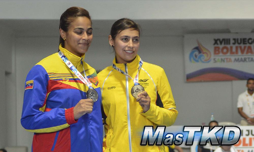 Podio_F-73_XVIII Juegos Bolivarianos Santa Marta 2017 - Taekwondo