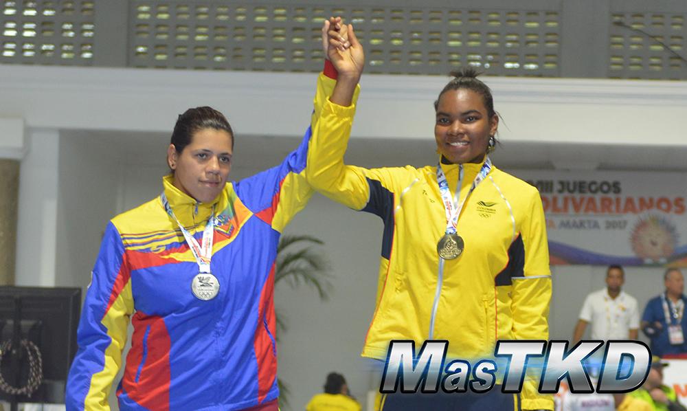 Podio_Fo73_XVIII Juegos Bolivarianos Santa Marta 2017 - Taekwondo