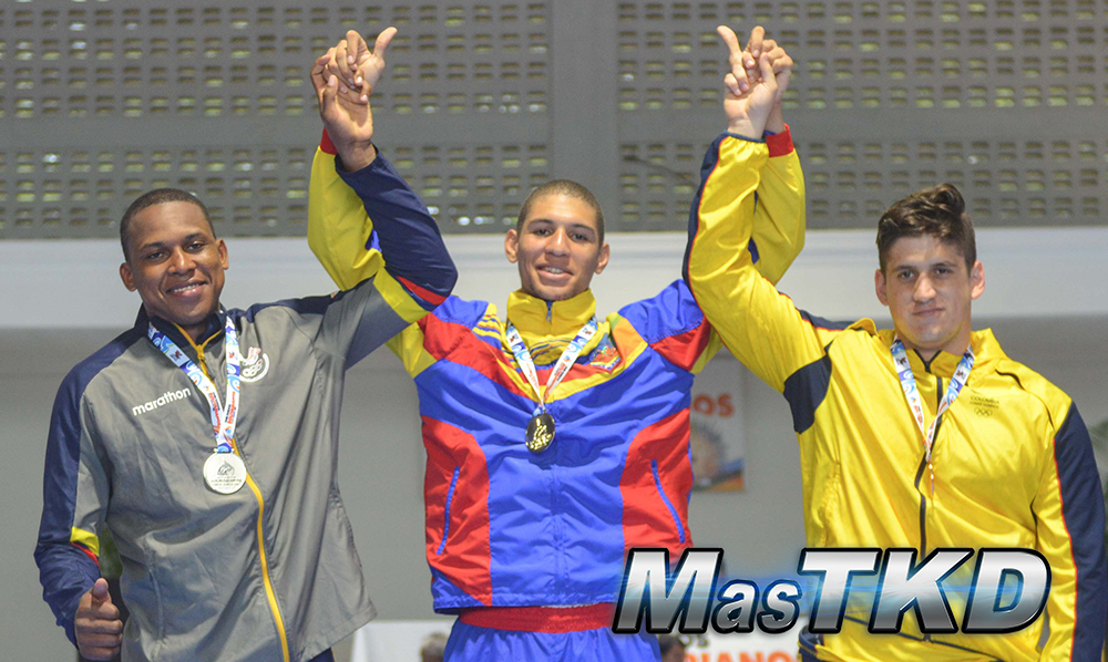 Podio_M-87_XVIII Juegos Bolivarianos Santa Marta 2017 - Taekwondo