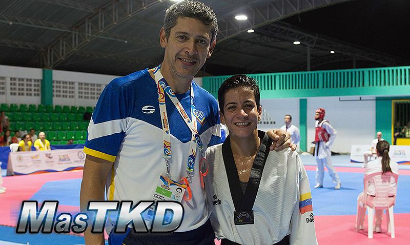 Virginia Dellan, oro en los Juegos Bolivarianos.