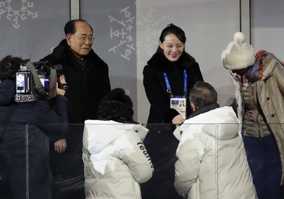 Moon Jae-In y Kim Yo-Jong